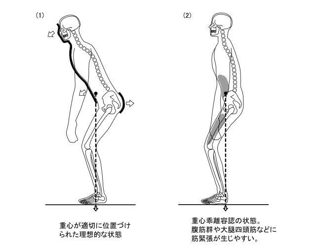 図7ー4 中腰姿勢における重心乖離容認